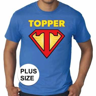 Toppers - grote maten super topper logo t-shirt blauw heren