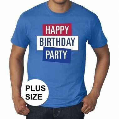 Toppers - grote maten toppers happy birthday party heren t-shirt off