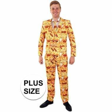 Wie is hier de snackbar pak voor heren grote maten