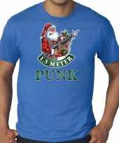 Grote maten fout kerstshirt outfit 1 5 meter punk blauw voor heren