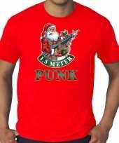 Grote maten fout kerstshirt outfit 1 5 meter punk rood voor heren
