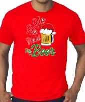 Grote maten ho ho hold my beer fout kerstshirt outfit rood voor heren