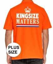 Grote maten kingsize matters poloshirt oranje voor heren