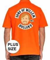Grote maten koningsdag poloshirt sons of willem oranje heren