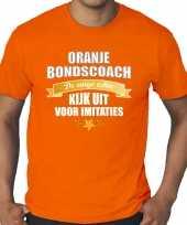 Grote maten oranje t-shirt holland nederland supporter de enige echte bondscoach ek wk voor heren