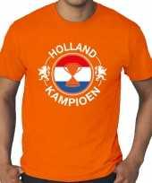 Grote maten oranje t-shirt holland nederland supporter holland kampioen met beker ek wk voor heren
