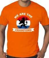 Grote maten oranje t-shirt holland nederland supporter holland kampioen met leeuw ek wk voor here