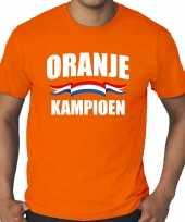 Grote maten oranje t-shirt holland nederland supporter oranje kampioen ek wk voor heren