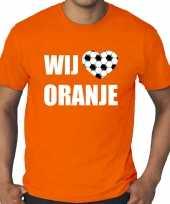 Grote maten oranje t-shirt holland nederland supporter wij houden van oranje ek wk voor heren