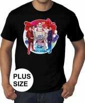Maten grote maat officieel toppers in concert 2019 t-shirt zwart heren
