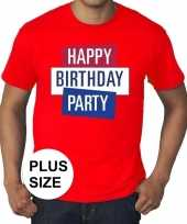 Toppers grote maten rood toppers happy birthday party t-shirt officieel