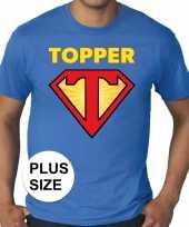 Toppers grote maten super topper logo t-shirt blauw heren